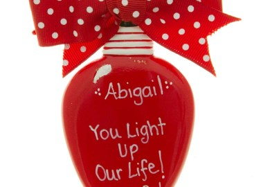 Personalized Christmas Ornaments Lights Decorations