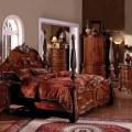 Kensington antique cherry queen poster bed bedroom furniture quotes