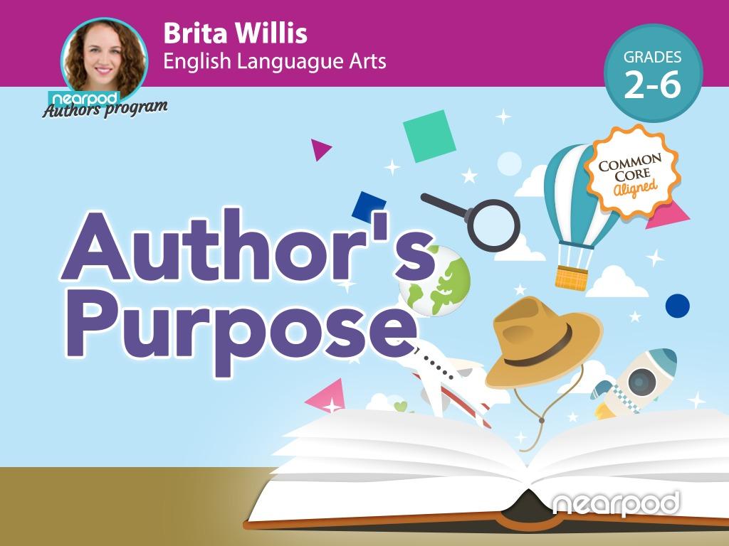 hight resolution of Author's Purpose