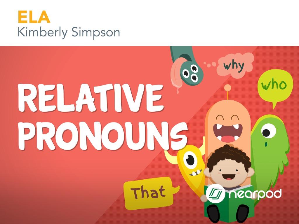 hight resolution of Relative Pronouns