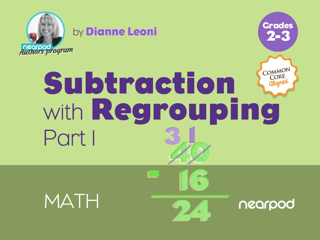 hight resolution of Subtraction with Regrouping Part 1