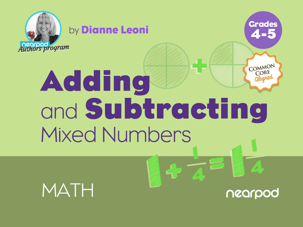 medium resolution of Adding and Subtracting Mixed Numbers