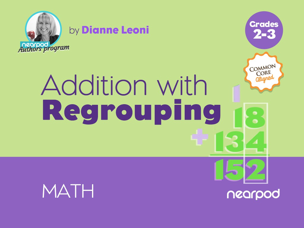 hight resolution of Addition with Regrouping