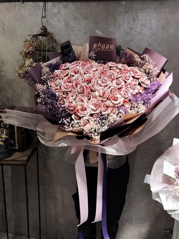 鈔票花束設計108032916-薰衣草網路花店-多家媒體報導最具創意網路花店-Lavender