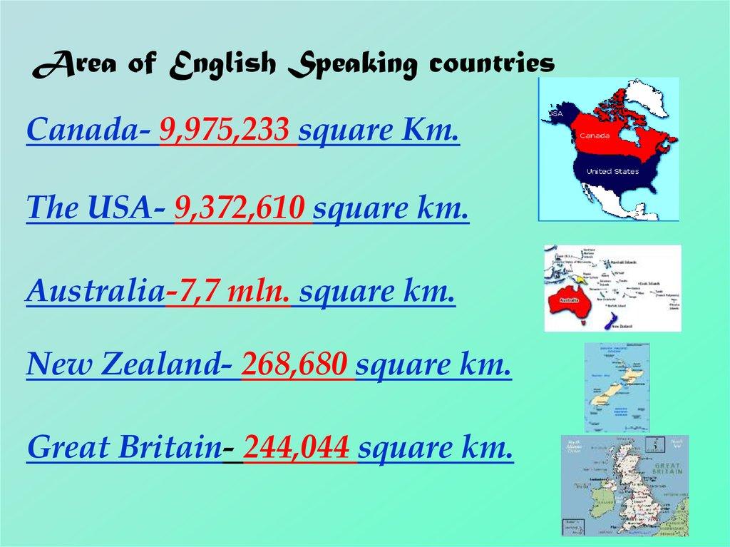 English-speaking countries - презентация онлайн