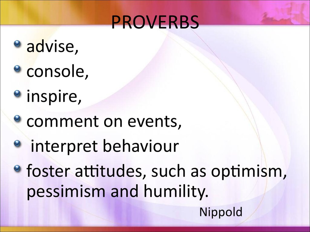 Using Proverbs In The English Classroom