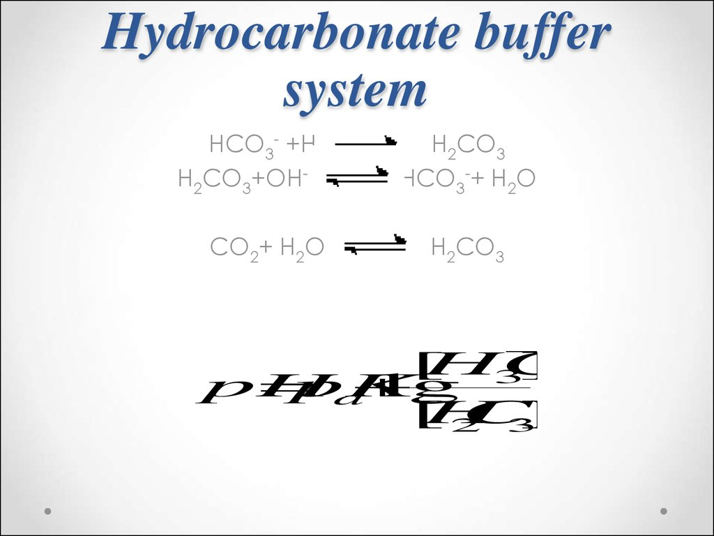 Solutions. Acid–base equilibrium in biological systems