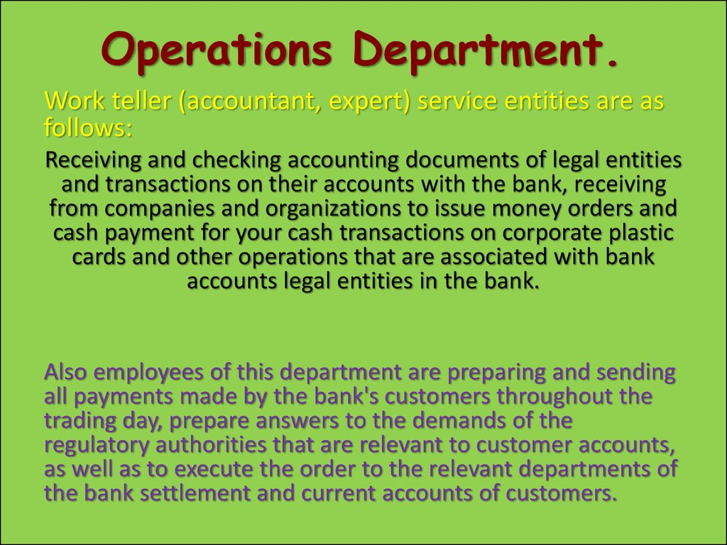 My future profession Career Banking