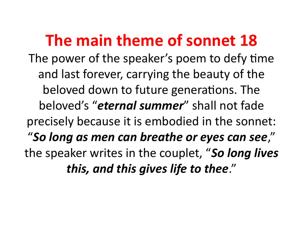 Teach Besides Me Rhyme Scheme Of Sonnet 18
