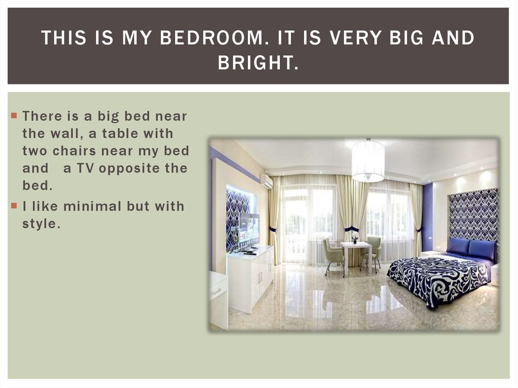 My dream house  online presentation