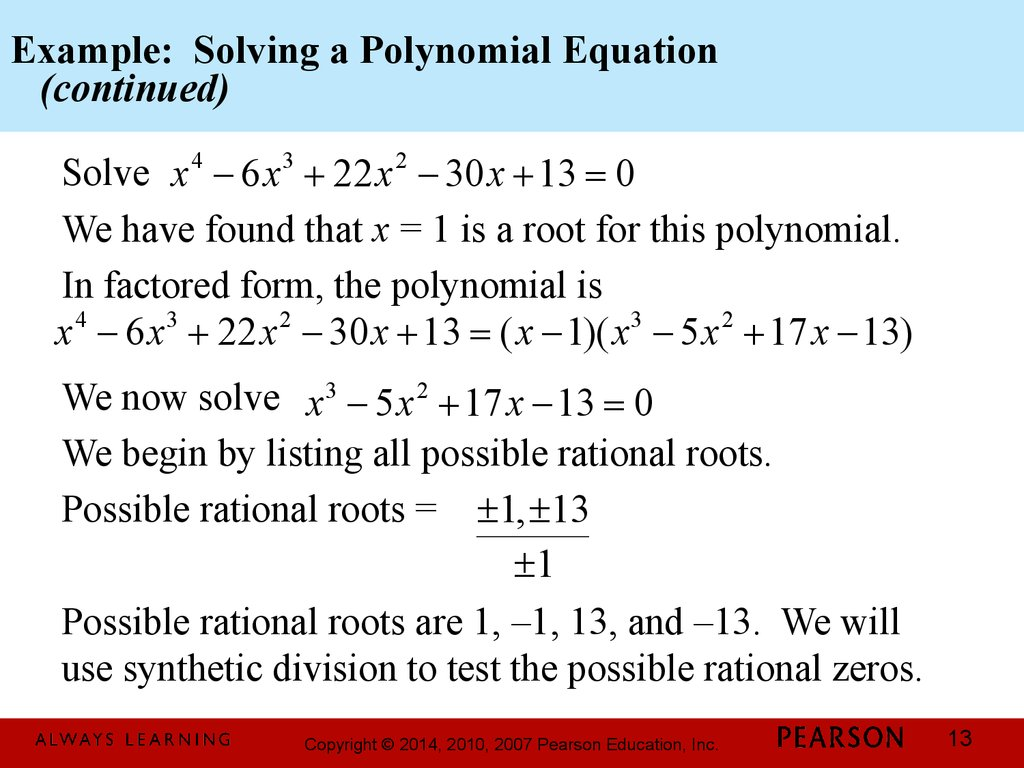 Chapter 3 Polynomial And Rational Functions 3 4 Zeros Of Polynomial Functions