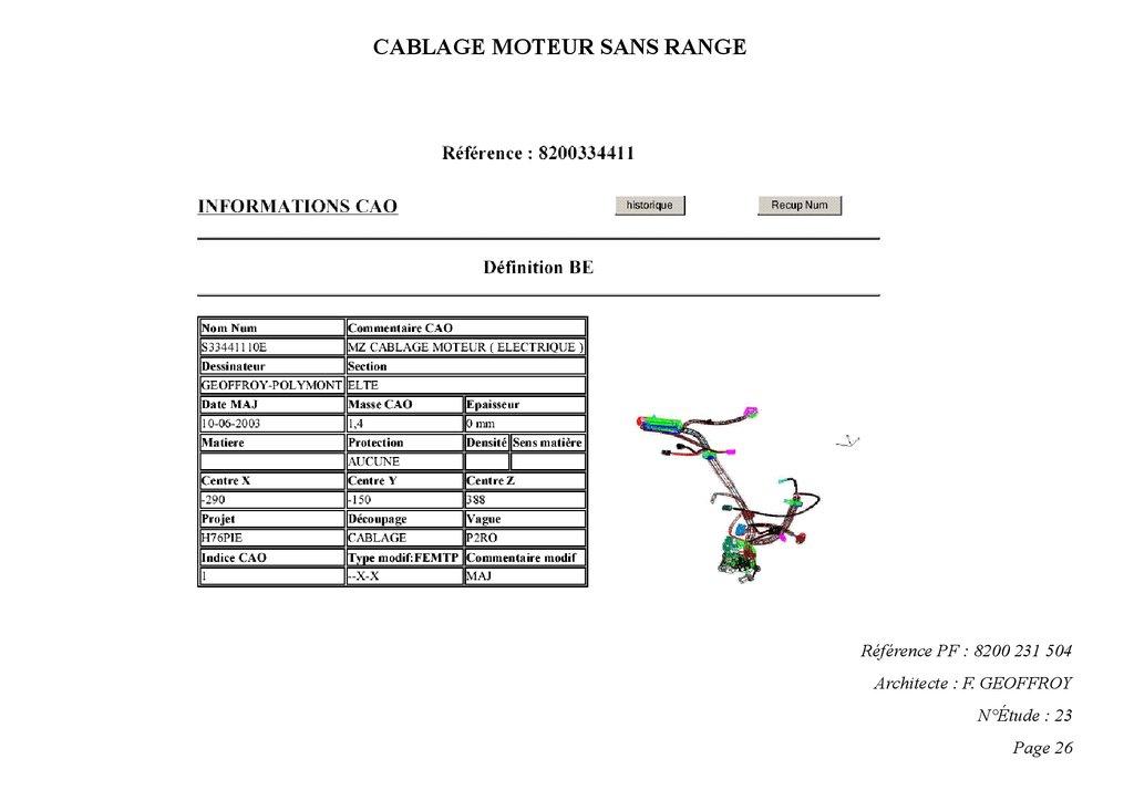 Documentation numerique Сablage Х76 electrique Рh2
