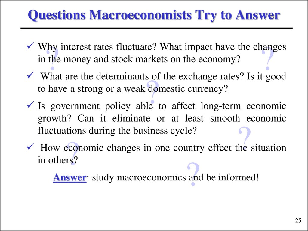 Introduction To Macroeconomics Lecture 1