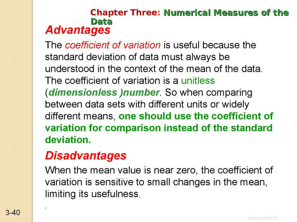 Statistics Data Description Data Summarization