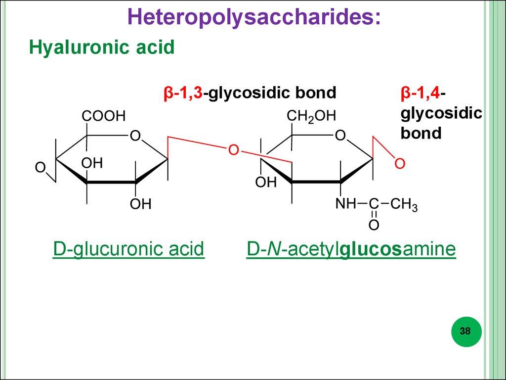hight resolution of heteropolysaccharides hyaluronic acid 1 3 glycosidic bond d glucuronic acid 1 4glycosidic bond d n acetylglucosamine