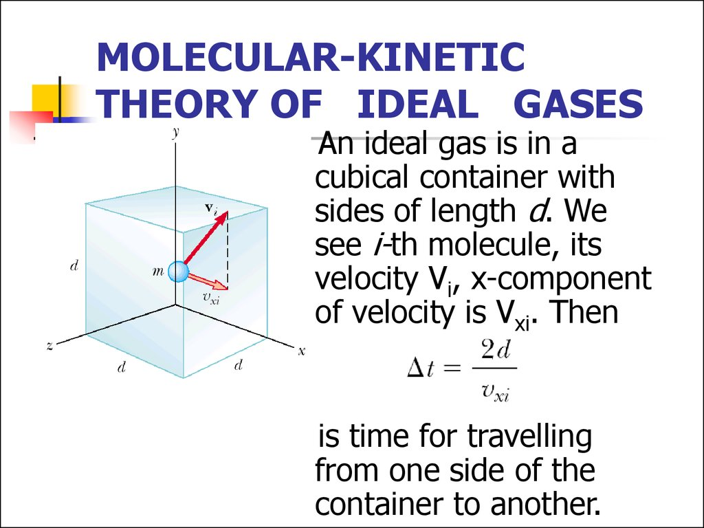 Molecular Kinetic Theory Of Ideal Gases