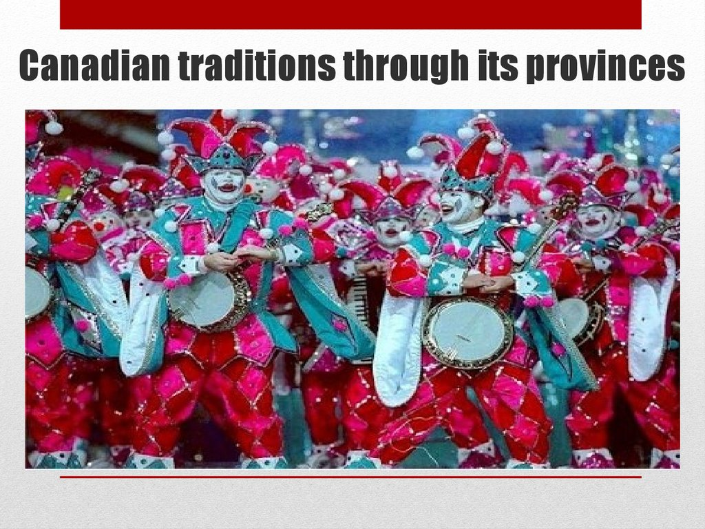 Canadian traditions  online presentation