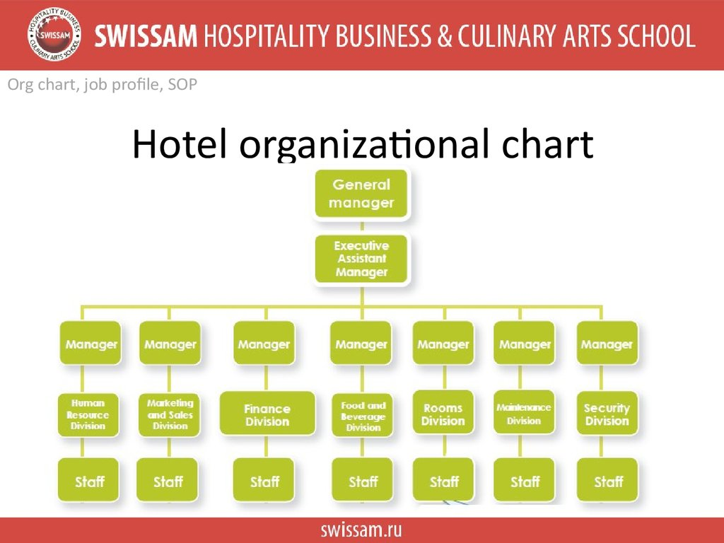 Accomodation operation Russian classification system star rate Org chart job profile SOP