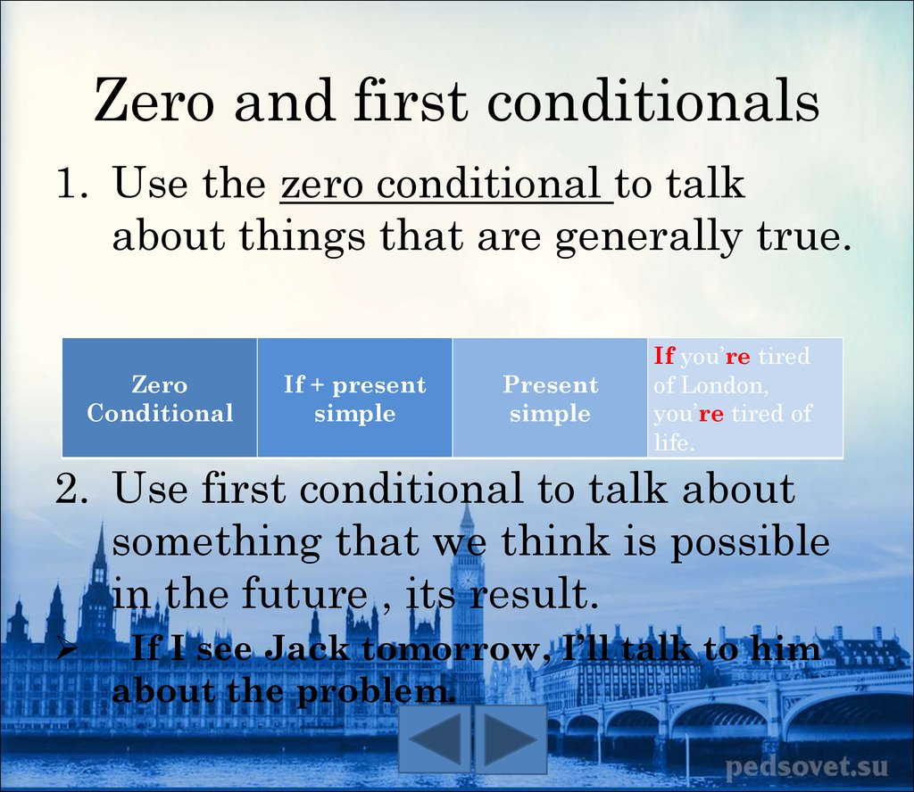 The Conditionals The Questions