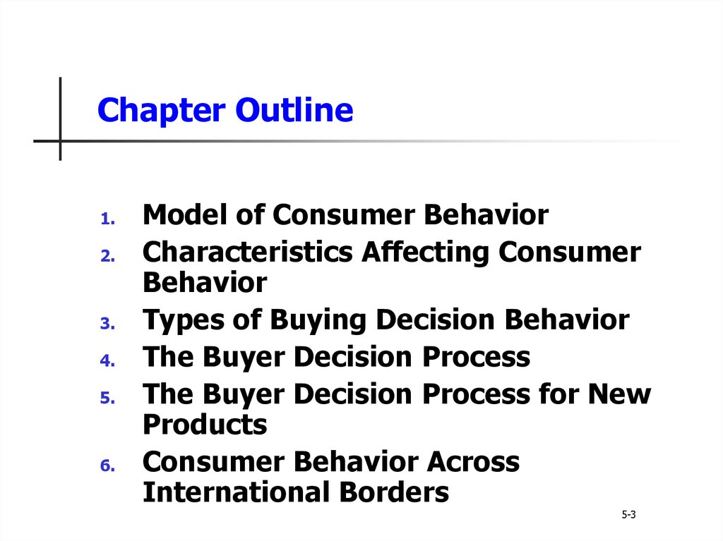 Principles of marketing. Consumer markets and consumer