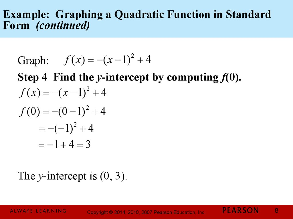 Chapter 3 Polynomial And Rational Functions 3 1 Quadratic Functions