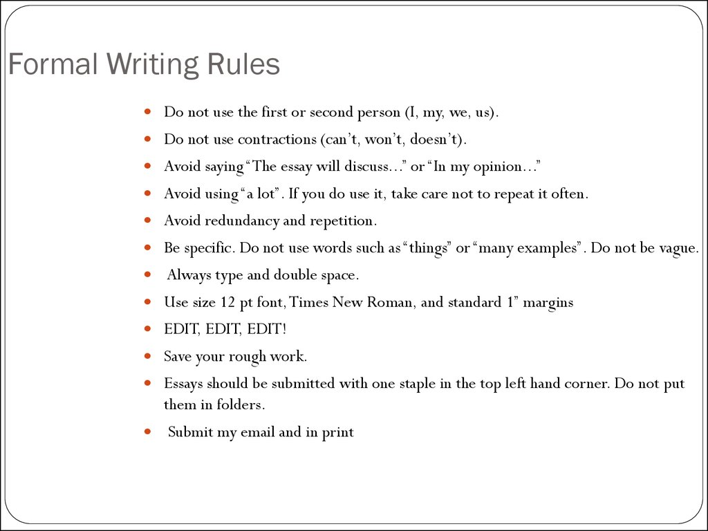 How To Write An Essay презентация онлайн