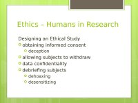 Psychology. Research Methods and Ethics in Psychology ...