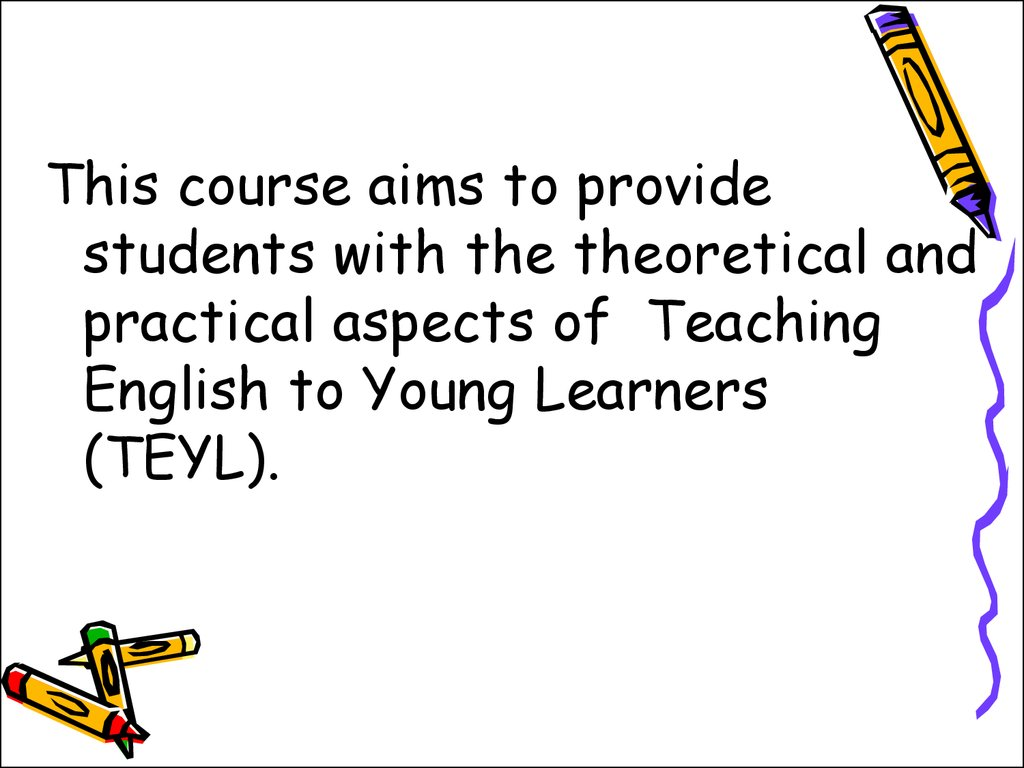 Articles about how to teach english to young learners