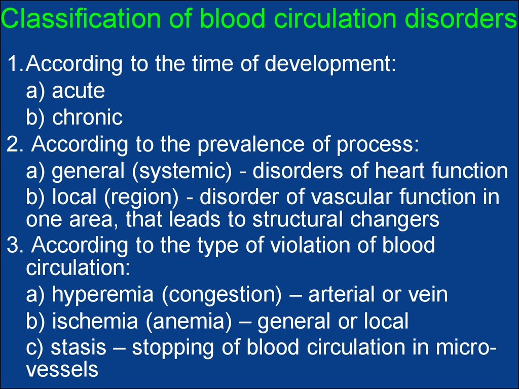 Pathomorphology Of Systemic And Local Violation Of Blood