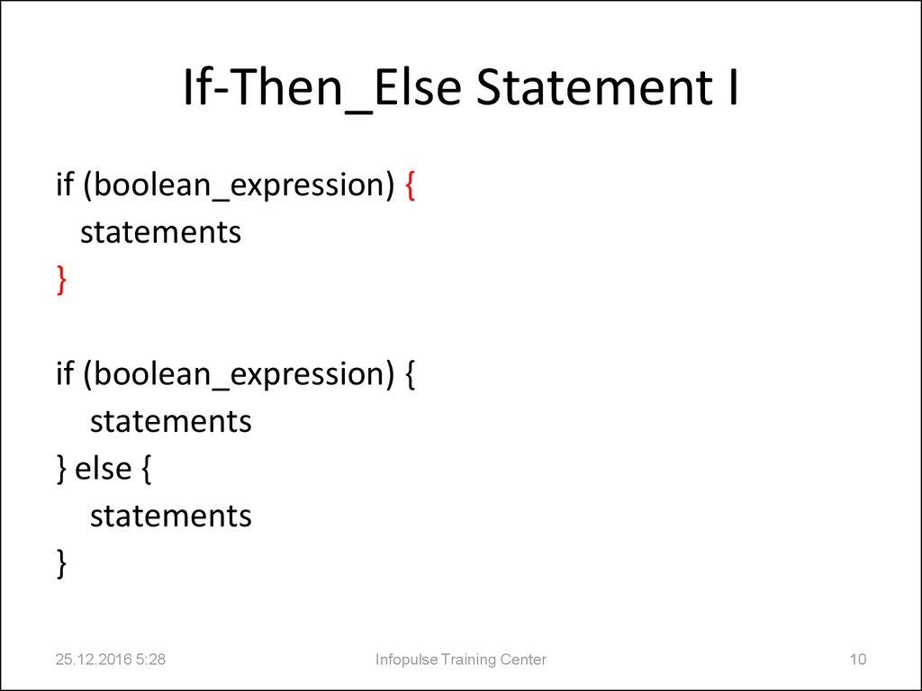 2 Java Basics Java Statements