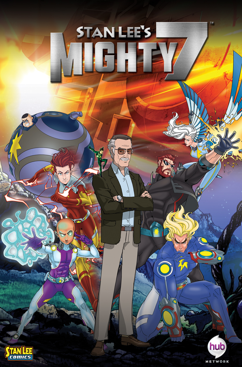 Stan Lees Mighty 7  Programs  The Hub Network  Discovery Press Web