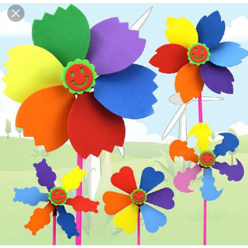 With the kids outside, summertime is the perfect time to break out those messy crafts you'd rather not do indoors. Handy Craft Eva Windmills Diy Kincir Angin Shopee Indonesia