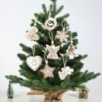 100pcs Christmas Tree Decorations Diy Wooden Hanging Christmas Pendant Ornaments