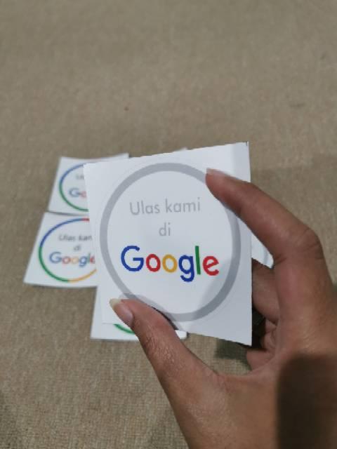 Ulas Kami Di Google : google, Stiker, Google, Review, Shopee, Indonesia