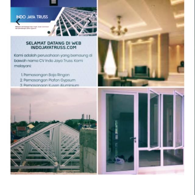 nama dan bentuk baja ringan rangka atap plafon gypsum kusen alumunium shopee