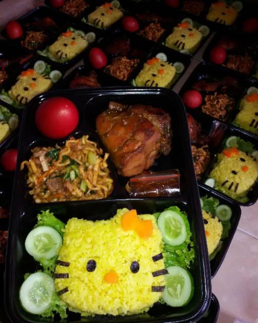 Bento Ultah Anak : bento, ultah, Minimal, Gojek, Bento, Snack, Kuning, Ultah, Hellokitty, Doraemon, Shopee, Indonesia