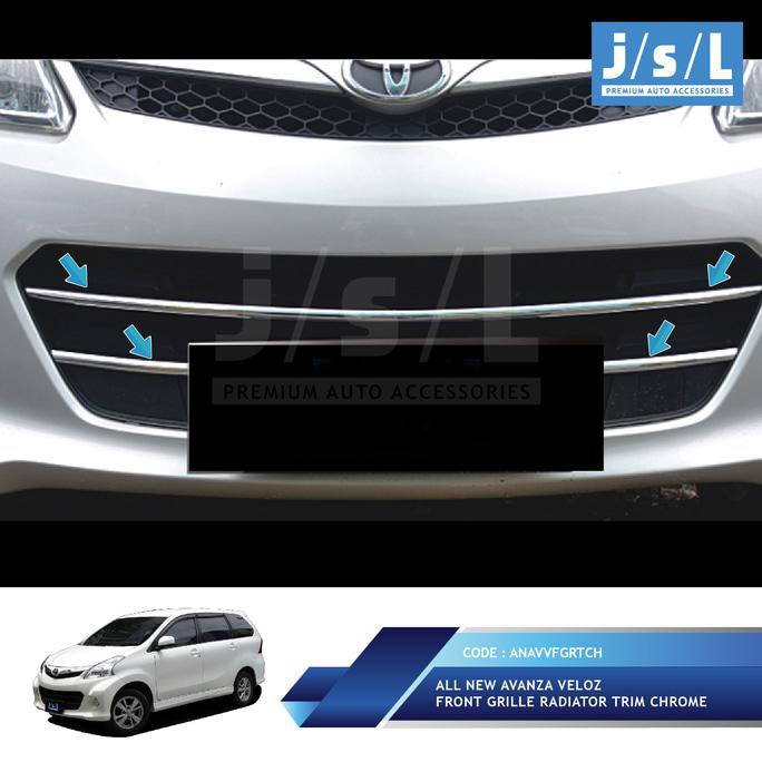 radiator grand new avanza brand toyota camry for sale philippines all veloz front grille trim chrome shopee indonesia