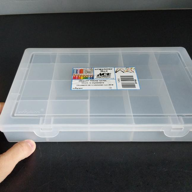 Yzg Wham Craft Organizer Box Kotak Penyimpanan Bersekat 13 Kompartemen Shopee Indonesia