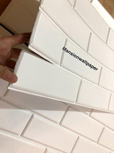 Background Batu Bata Putih : background, putih, Wallpaper, Sticker, Putih, Shopee, Indonesia