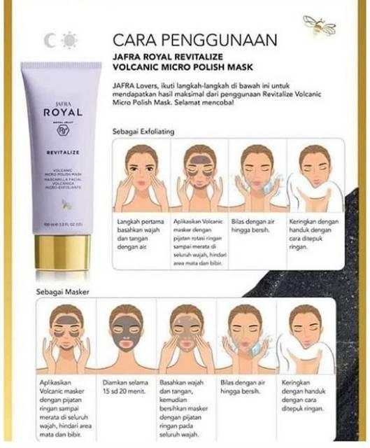 Cara Memakai Masker Jafra : memakai, masker, jafra, Royal, Revitalize, JafraVolcanic, (Masker, Vulkanik), 100ml, Shopee, Indonesia