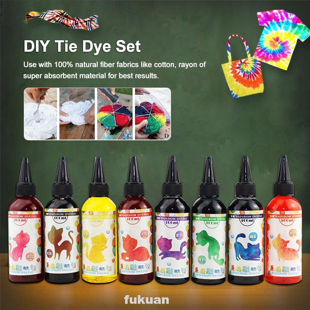 Tie Dye Kit Decorating Non Toxic Diy Craft Art Supplies Textile Paint One Step Clothing Pigment Shopee Indonesia
