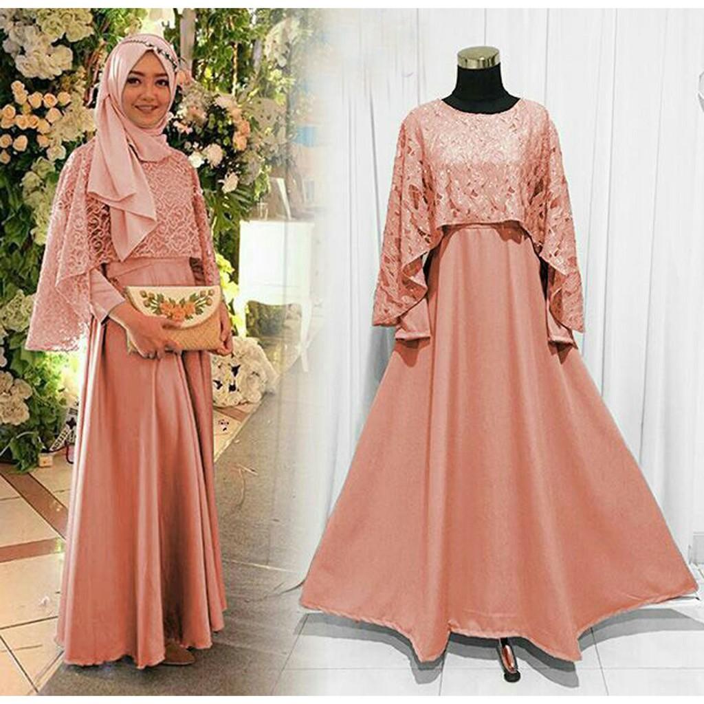 Model Baju Gamis Kelelawar Untuk Pesta Ragam Muslim