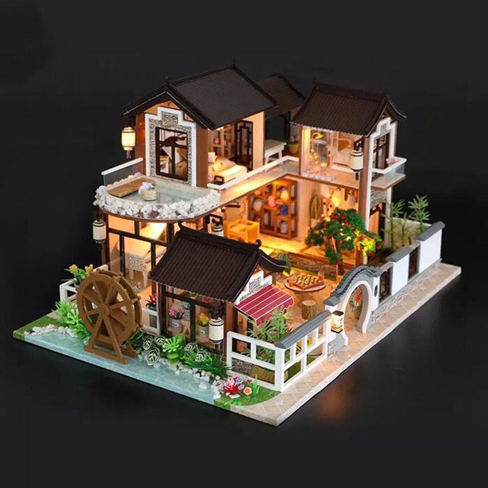 Miniatur Rumah Dollhouse Miniature Diy Craft House Doll House Ksr182 Shopee Indonesia