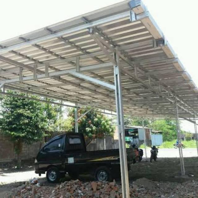 awning dari baja ringan garasi shopee indonesia