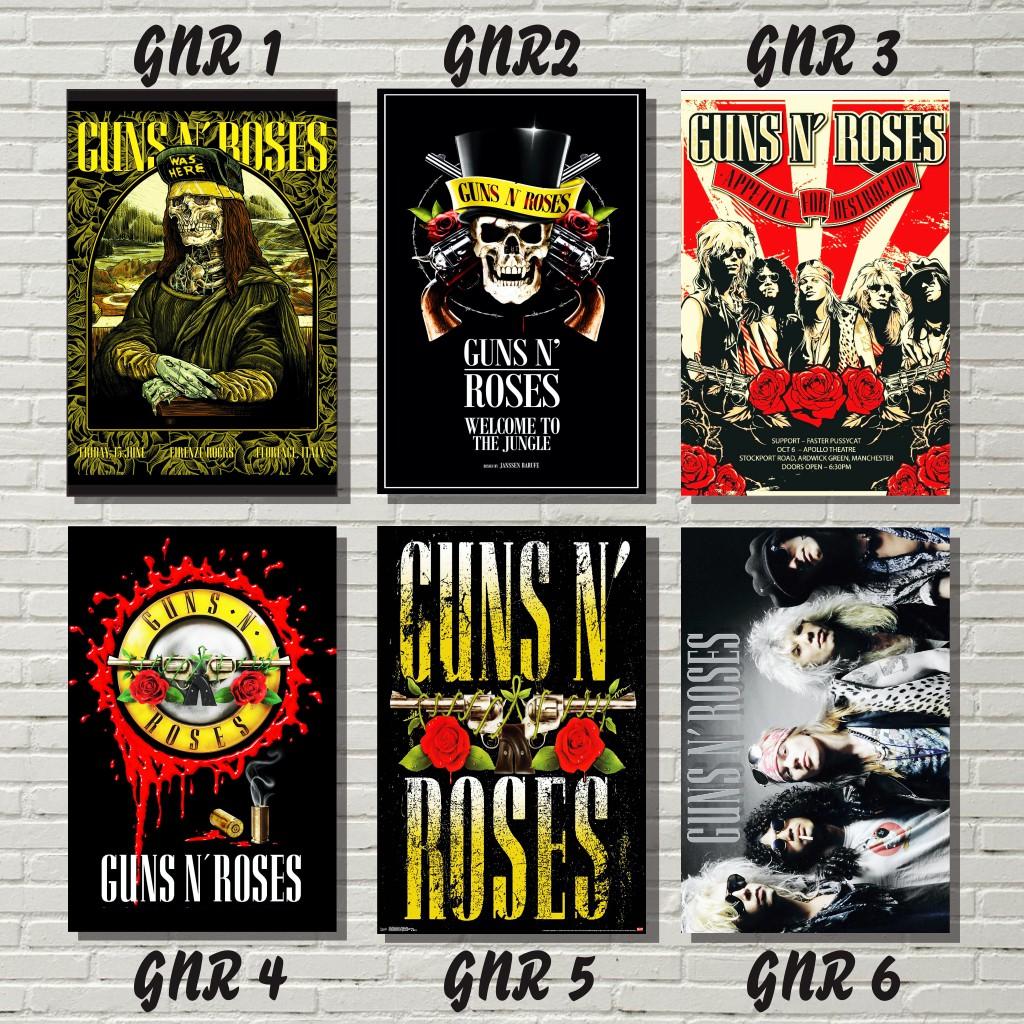 poster band guns n roses dekorasi dinding