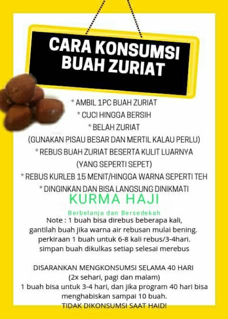 Cara Konsumsi Buah Zuriat : konsumsi, zuriat, Zuriat, Madinah, Promil, Mesir, Program, Hamil, Shopee, Indonesia