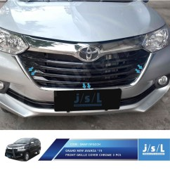 Grill Chrome Grand New Avanza G M/t All Front Grille Trim 3 Pcs Aksesoris Shopee Indonesia