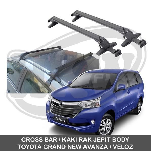 roof rack grand new avanza g luxury toyota veloz cross bar jepit rail hitam harga murah shopee indonesia