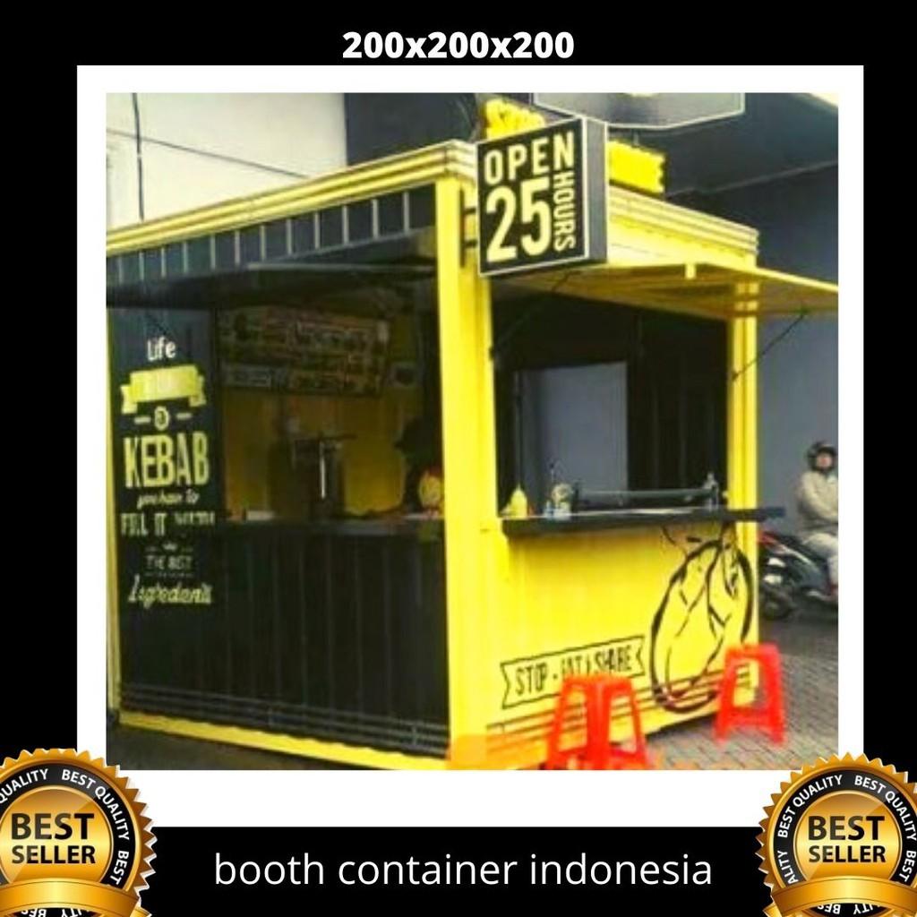 harga baja ringan bekas booth container untuk jualan shopee indonesia