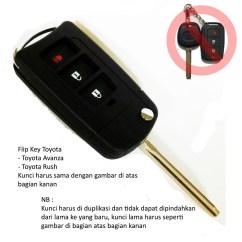 Flip Key Grand New Avanza Review Toyota Veloz Casing Kunci Lipat 3 Tombol Atau Rush Shopee Indonesia